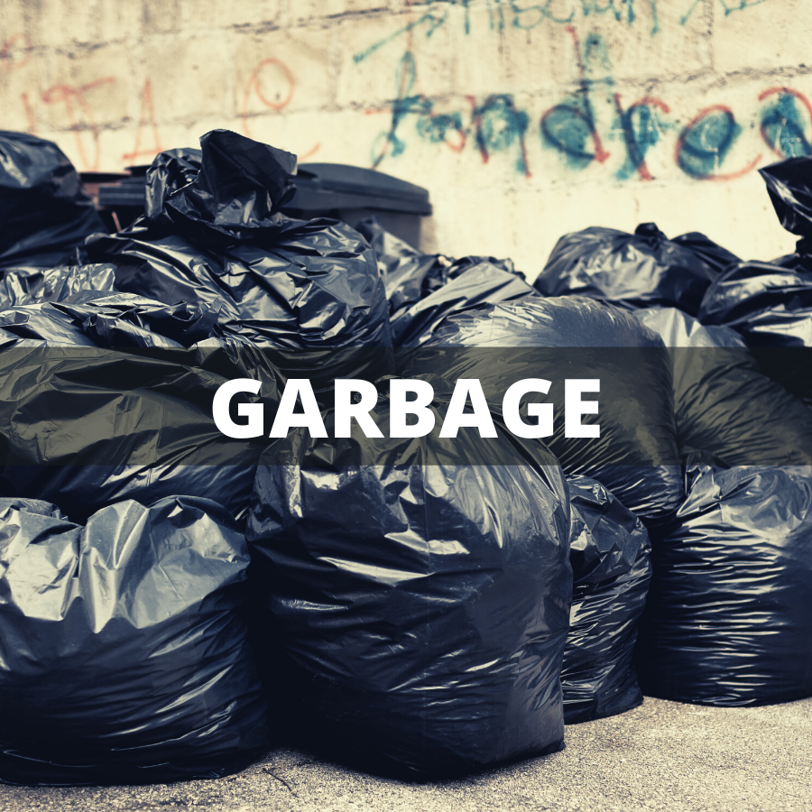 Commercial Dumpster Rental for Genral House Garbage | Garbage Bags Left on Curb